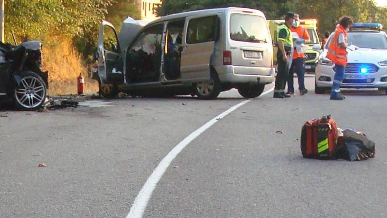 Accidente de Covelo ocurrido el 21 de julio de 2020. GUARDIA CIVIL