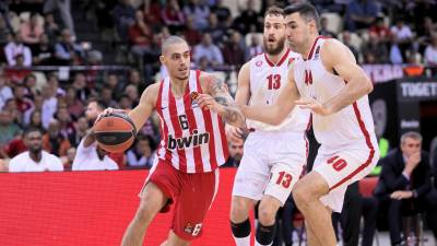 Koniaris (6) en un partido con el Olimpiacos. Foto: Euroleague
