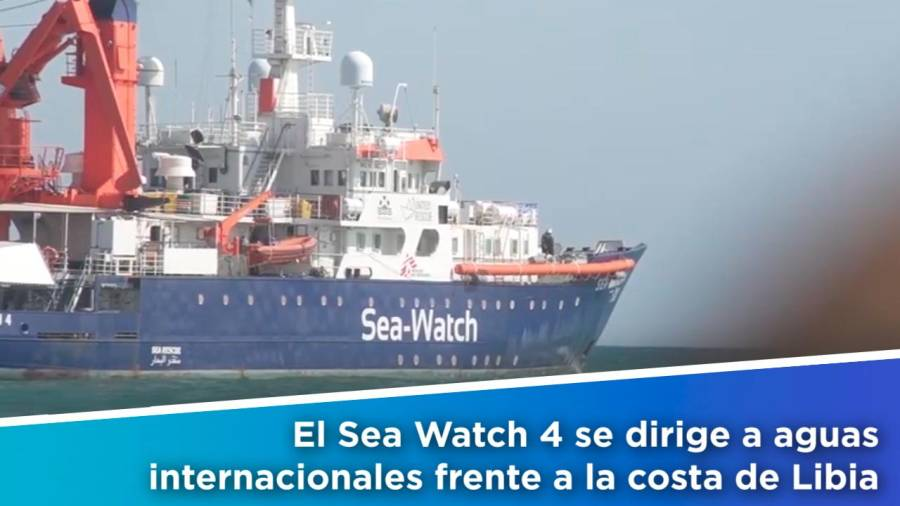 El Sea Watch 4 parte hacia aguas internacionales