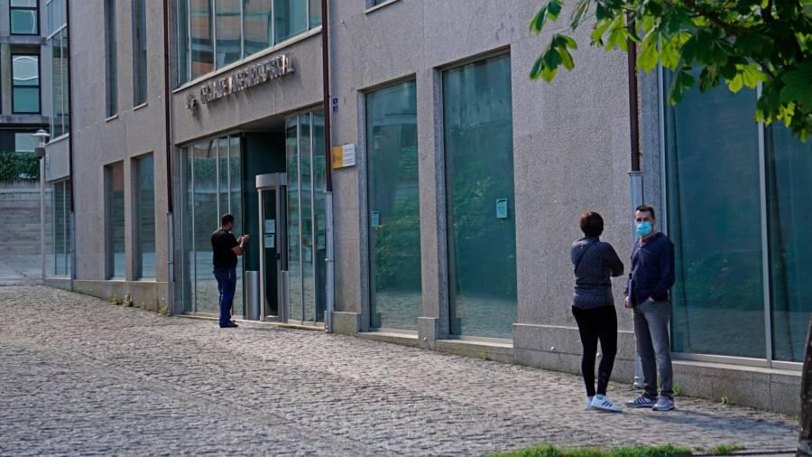 Inundación en la sede de la Seguridad Social