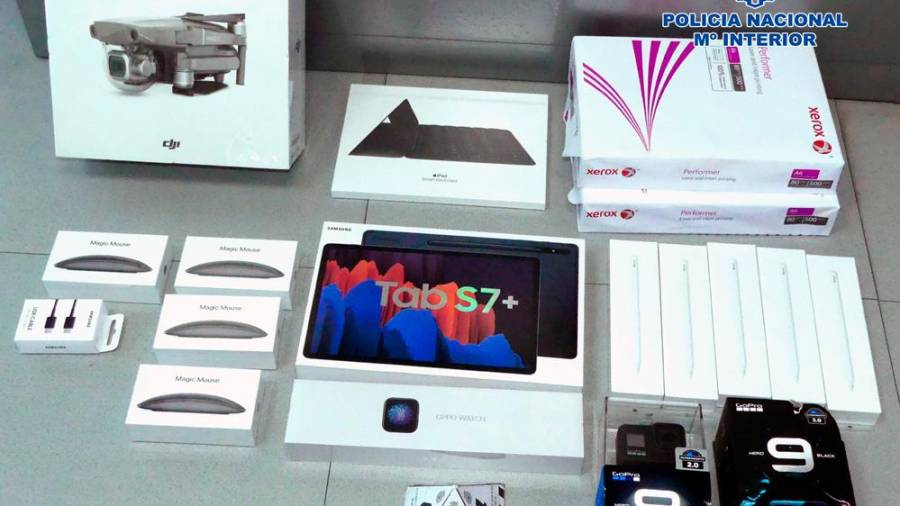 Detenido por robar dispositivos electrónicos en Santiago de Compostela